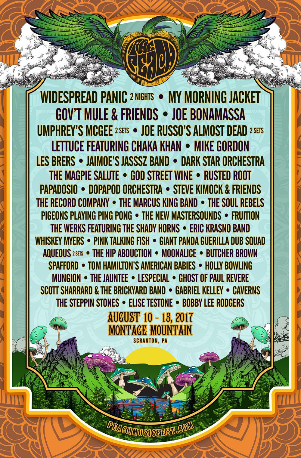 montage mountain music festival poster