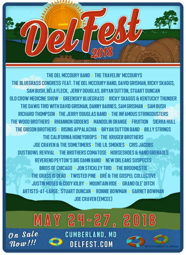 del fest music festival poster
